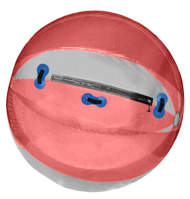 WATER BALL KULA WODNA walking ball TPU czerwona