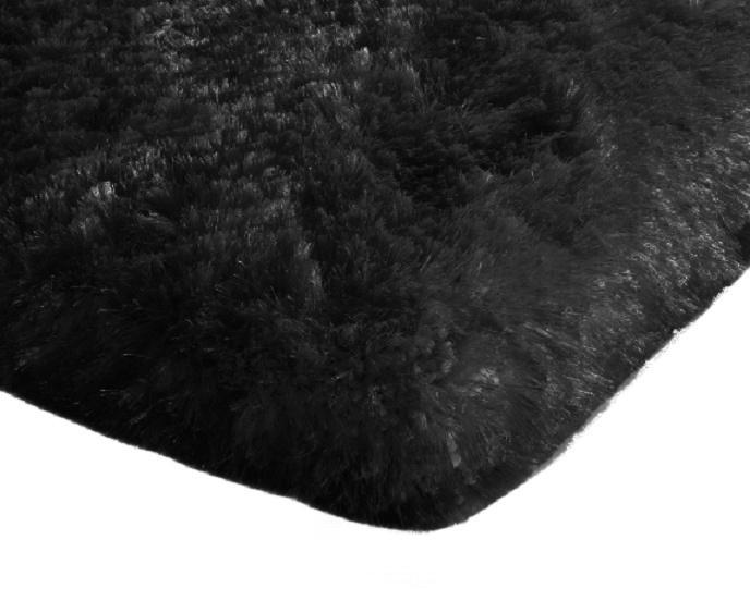 Shaggy dywanik łazienkowy pluszowy wysoki 60x90 czarny