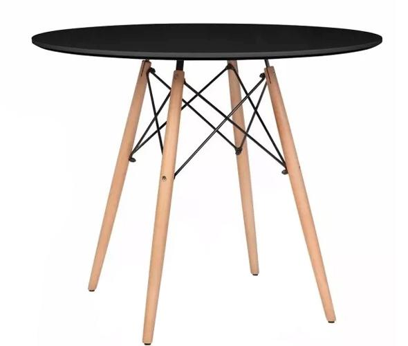 Nowoczesny okrągły stół 80cm modern czarny