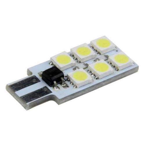 Żarówka samochodowa 6 LED 5050 12V T10 W5W LB24