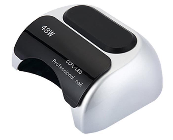 Lampa UV LED ccfl 48W do paznokci z sensorem ruchu SREBRNY