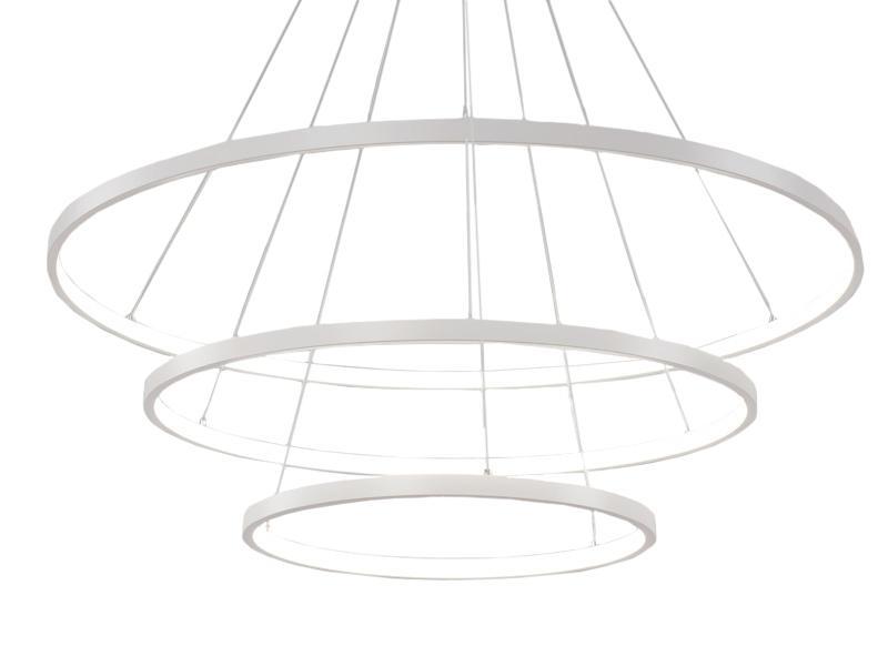 Żyrandol ringi lampa okręgi obręcze LED 20+40+60cm 52w