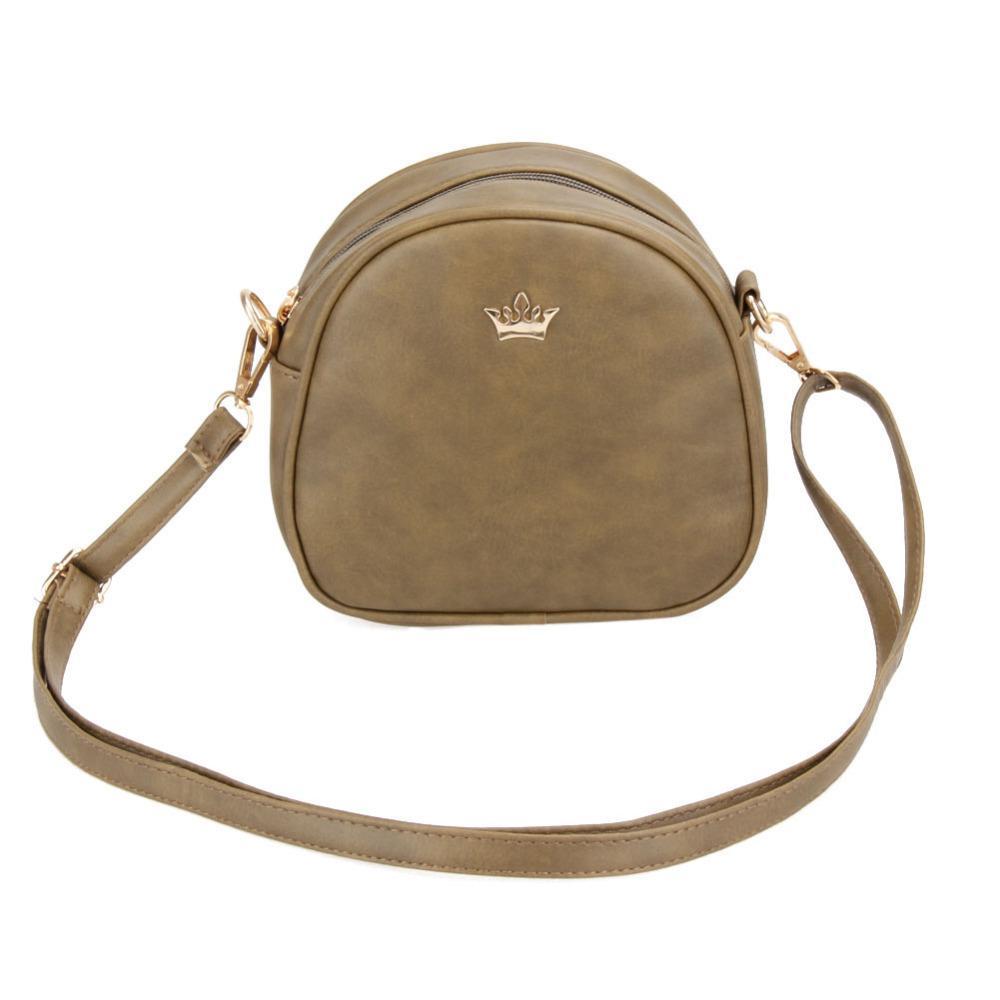 Mała torebka damska typu kuferek / listonoszka KHAKI