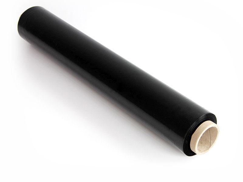 Czarna folia stretch do pakowania - 3kg x 10szt.