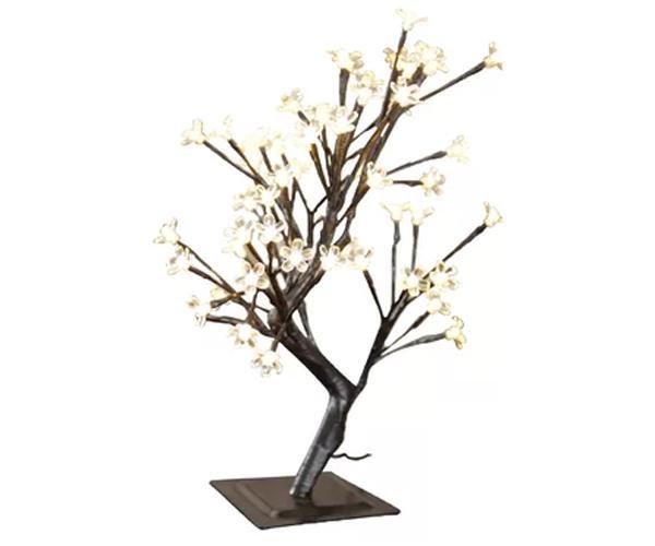Drzewko szczęścia 48 LED bonsai 50cm lampki dekoracyjne wewnętrzne CIEPŁY BIAŁY