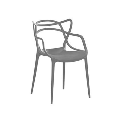 Fotel krzesło master ażur SZARY