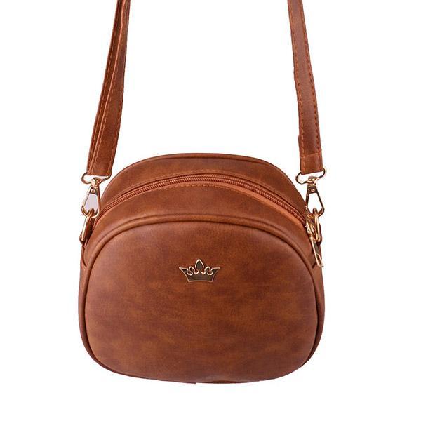 Mała torebka damska typu kuferek / listonoszka BRĄZOWA