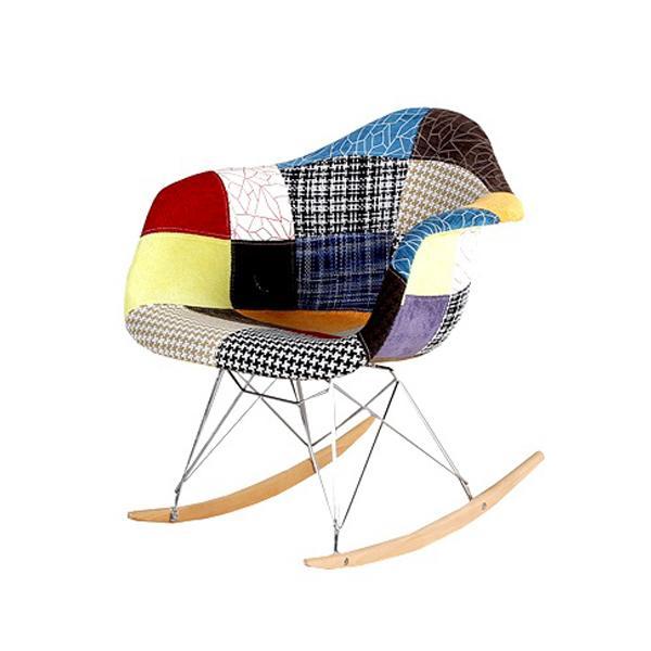 Krzesło bujane patchwork DSW rar KOLOROWY
