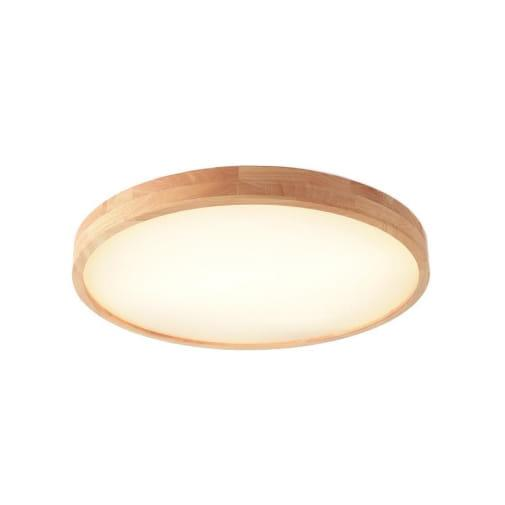 lampa nowoczesna cienka sufitowa plafon LED drewno