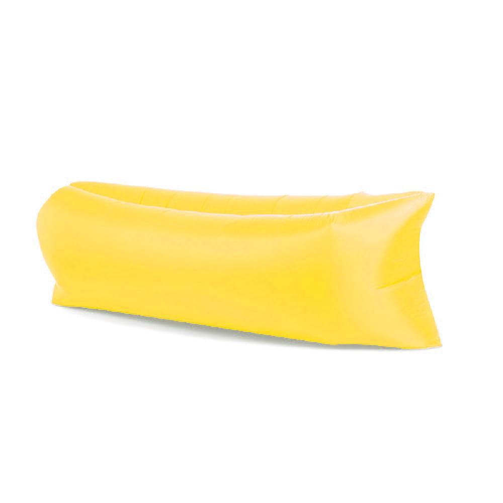 Lazy bag XXL ŻÓŁTY air sofa materac leżak na powietrze
