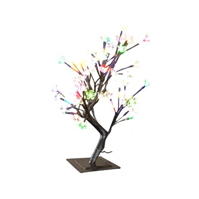 Drzewko szczęścia 48 LED bonsai 50cm lampki dekoracyjne wewnętrzne MULTIKOLOR