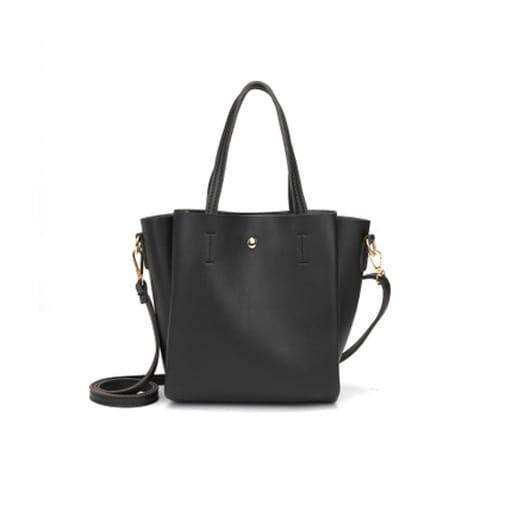 mała torebka miejska pasek na ramie miękka czarna