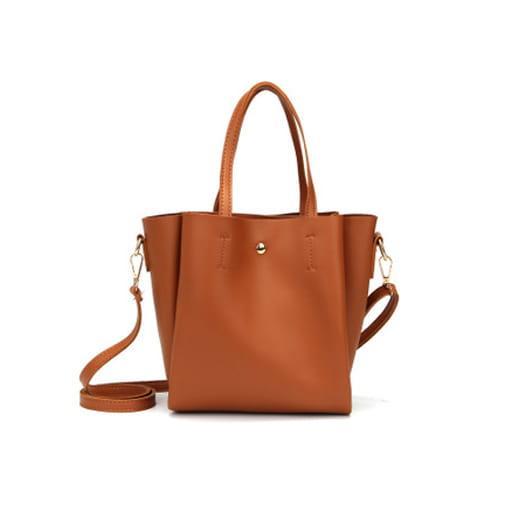 mała torebka miejska pasek na ramie miękka brązowy