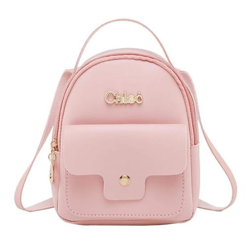 mała torebka plecak mini kolory eko skóra różowy