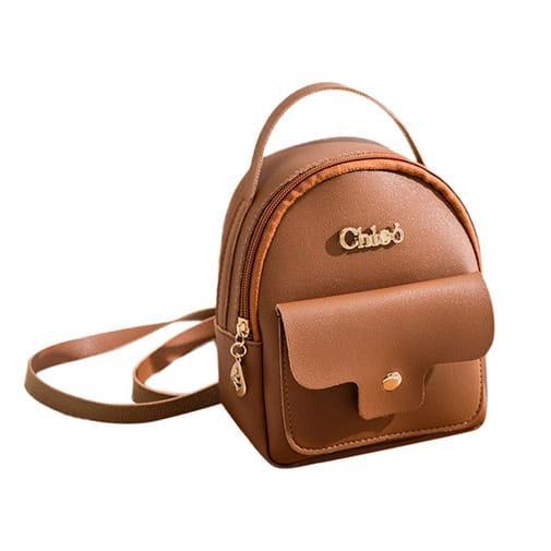 mała torebka plecak mini kolory eko skóra brązowy