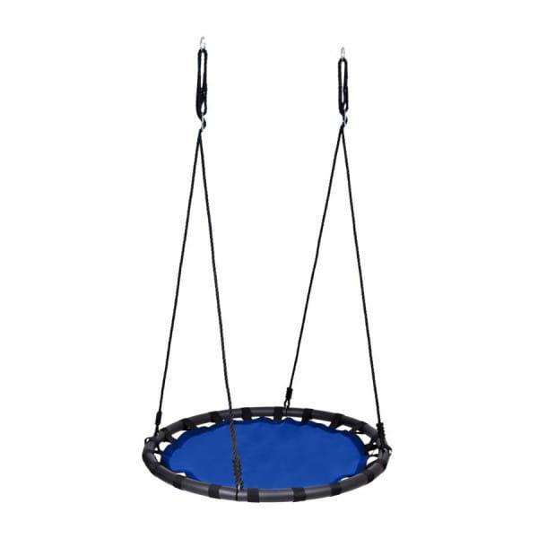 DUŻA HUŚTAWKA GNIAZDO BOCIANIE pełne 120cm 150kg niebieska