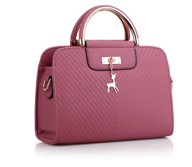 różowa mała torebka pasek eko skóra elegancka