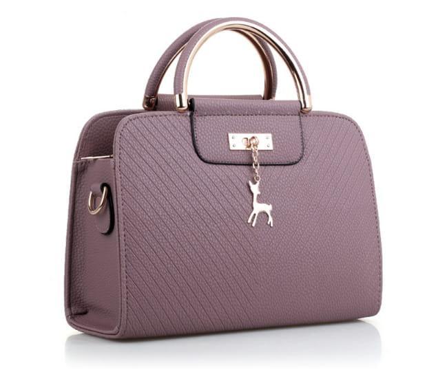 purpurowa mała torebka pasek eko skóra elegancka