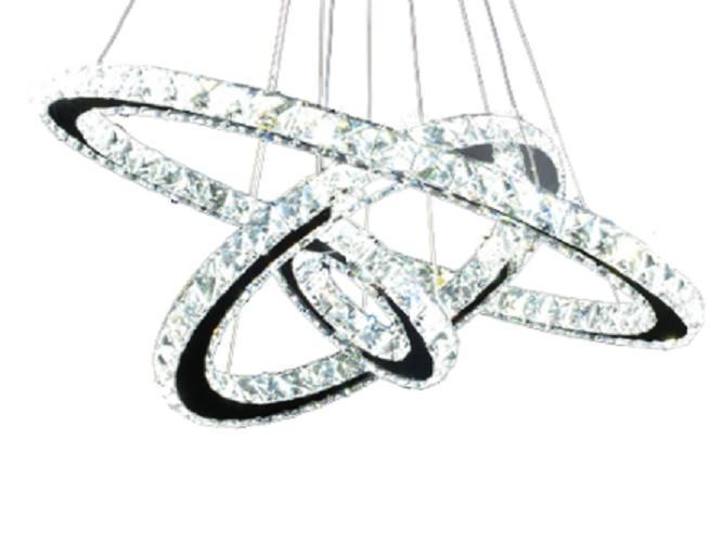 Żyrandol ringi lampa pierścienie 48W 60cm