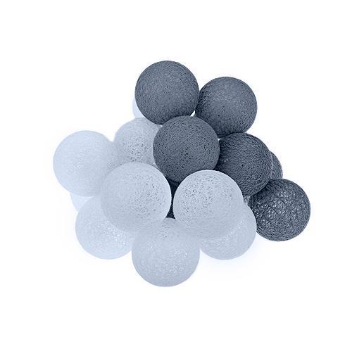 Cotton balls dekoracyjne kule lampki LED 20 kul dekoracyjne wewnętrzne