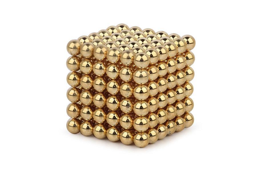 Neocube - magnetyczne kulki 216 szt. 3mm ZŁOTE