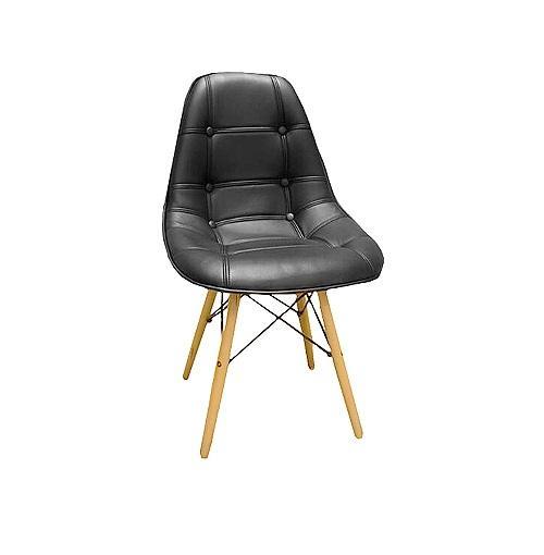 Tapicerowane krzesło hoker lyon CZARNY