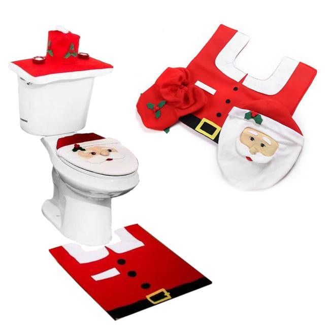 Zestaw świąteczny łazienki pokrowiec WC Mikołaj